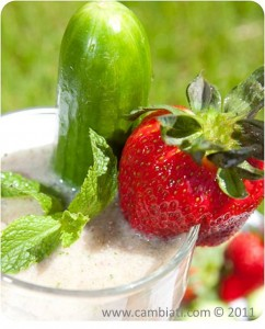 Strawberry Cucumber Mint Shake