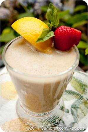 Strawberry Lemon Basil Shake