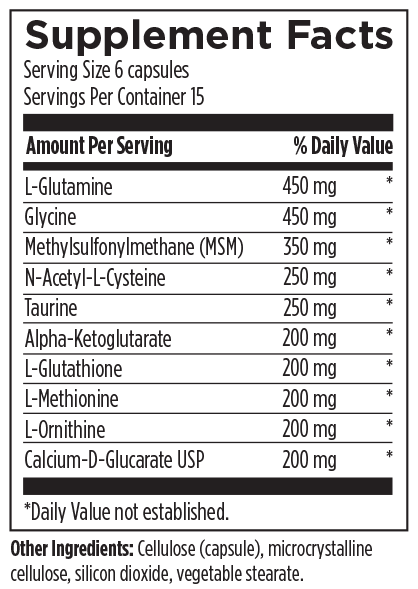 Amino-D-Tox 90 Designs for Health Ingredients