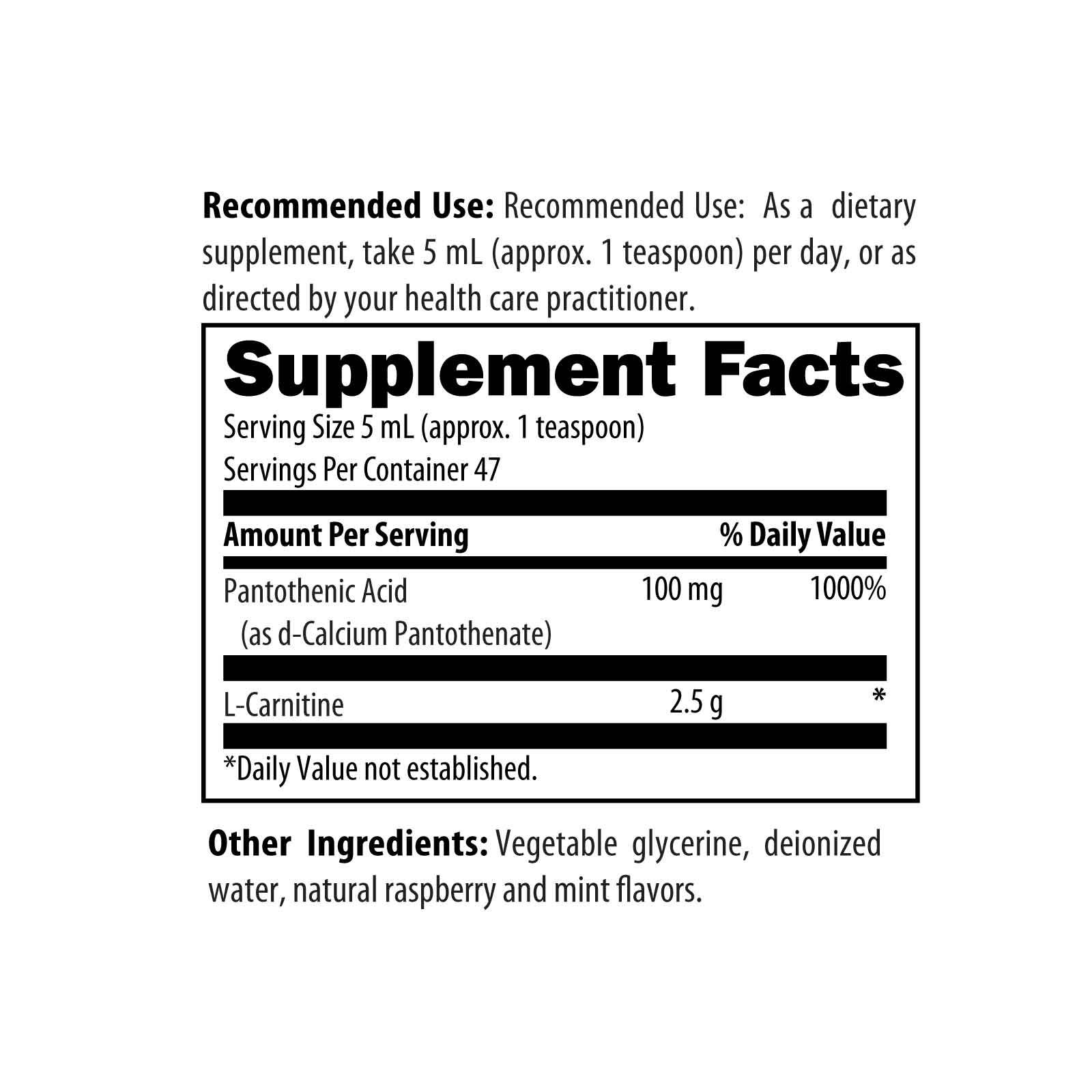 CarniClear Supersaturated Carnitine Liquid 8 fl oz (237 ml) Designs for Health Ingredients