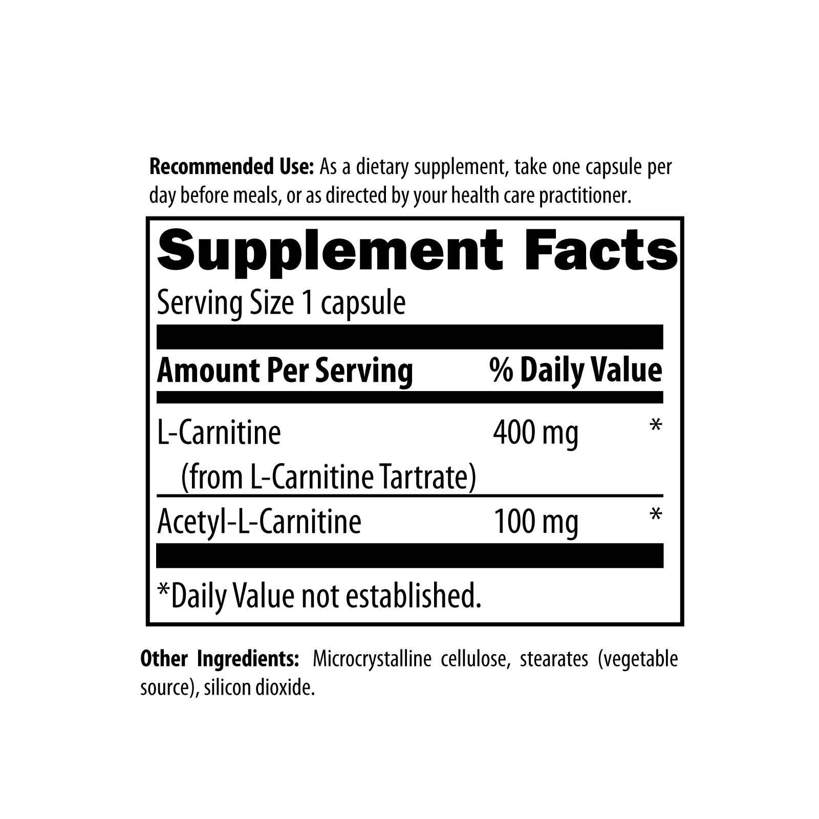 Carnitine Synergy 120 Designs for Health Ingredients