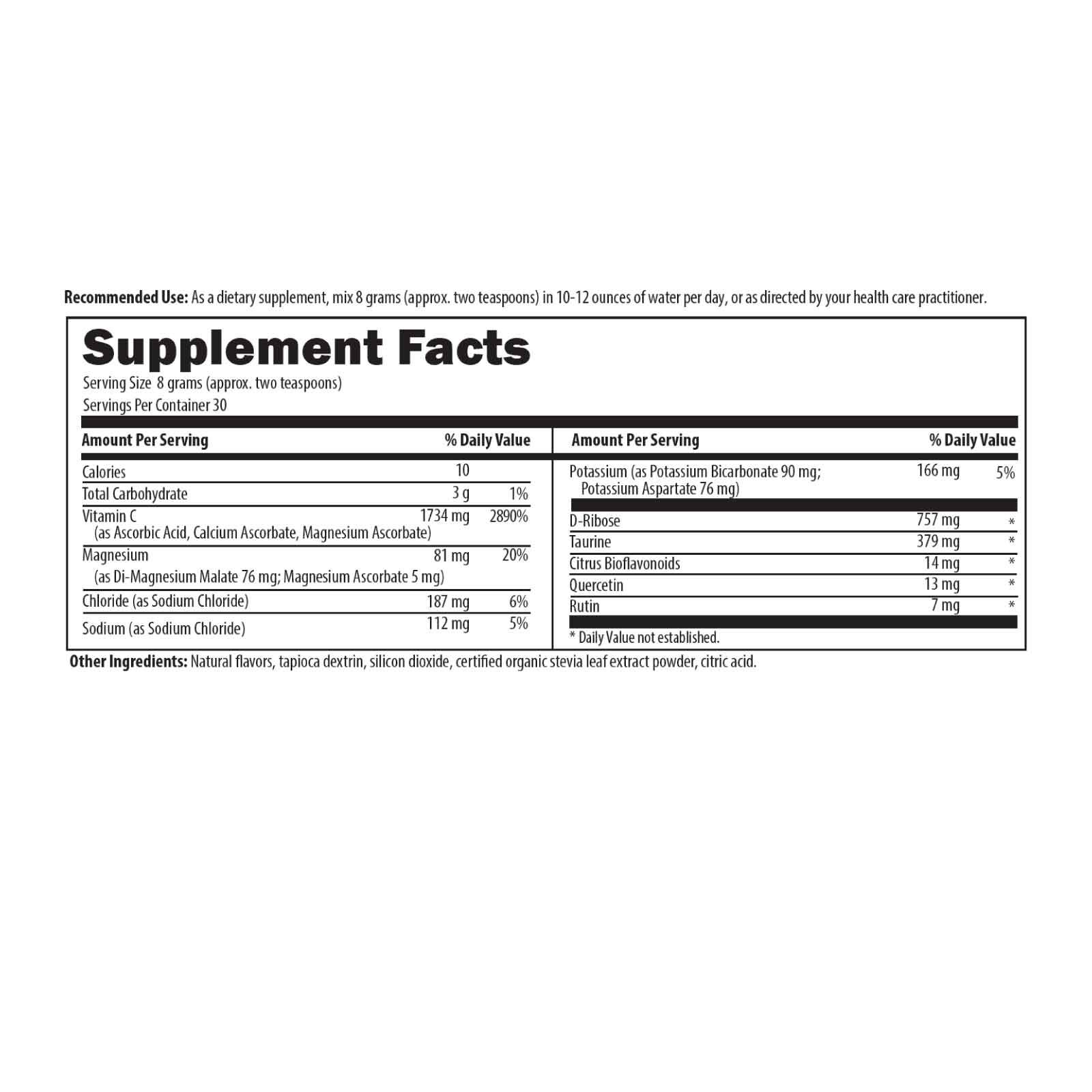 Electrolyte Synergy 240 g (8.5 oz) Designs for Health Ingredients