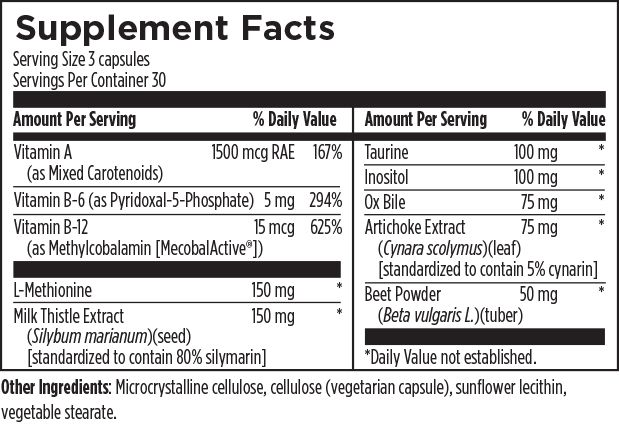 LV-GB (Liver and Gallbladder) Complex 90 Designs for Health Ingredients