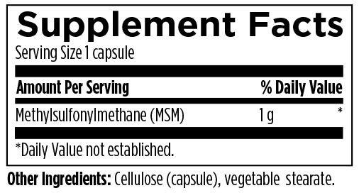 MSM 240 Designs for Health Ingredients