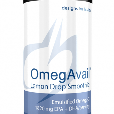 OmegAvail Lemon Drop Smoothie 16oz Designs for Health
