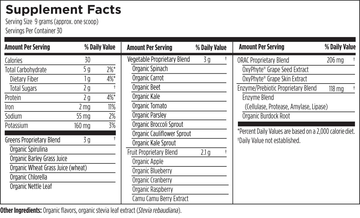PaleoGreens (Lemon-Lime) 270 g (9.5 oz) Designs for Health Ingredients