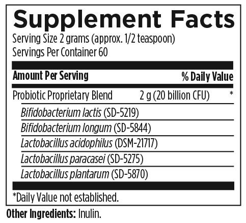 Probiotic Synergy 120 g (3.5 oz) Designs for Health Ingredients