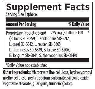 Probiotic Synergy 60 Designs for Health Ingredients