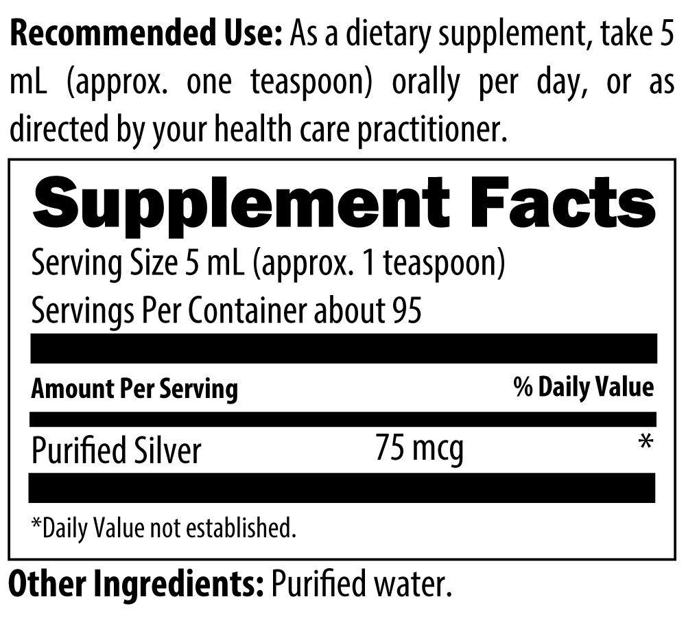 Silvercillin Liquid 16 fl oz (473 mL) Designs for Health Ingredients