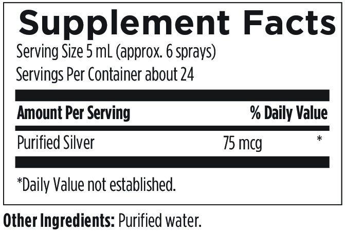 Silvercillin Spray 4 fl oz (118 mL) Designs for Health Ingredients
