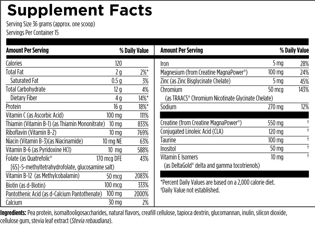 VegeMeal Vanilla 540 g (1.2 lbs) Designs for Health Ingredients