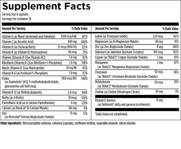 Prenatal Pro 120 ingredients Designs for Health Quality prenatal vitamins best prenatal vitamins