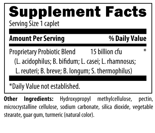 Probiotic Supreme Nutrition Label