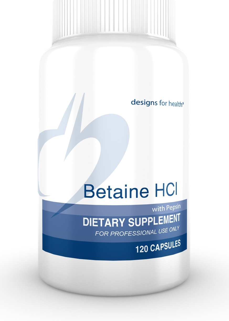 Betaine HCl 120 Designs for Health