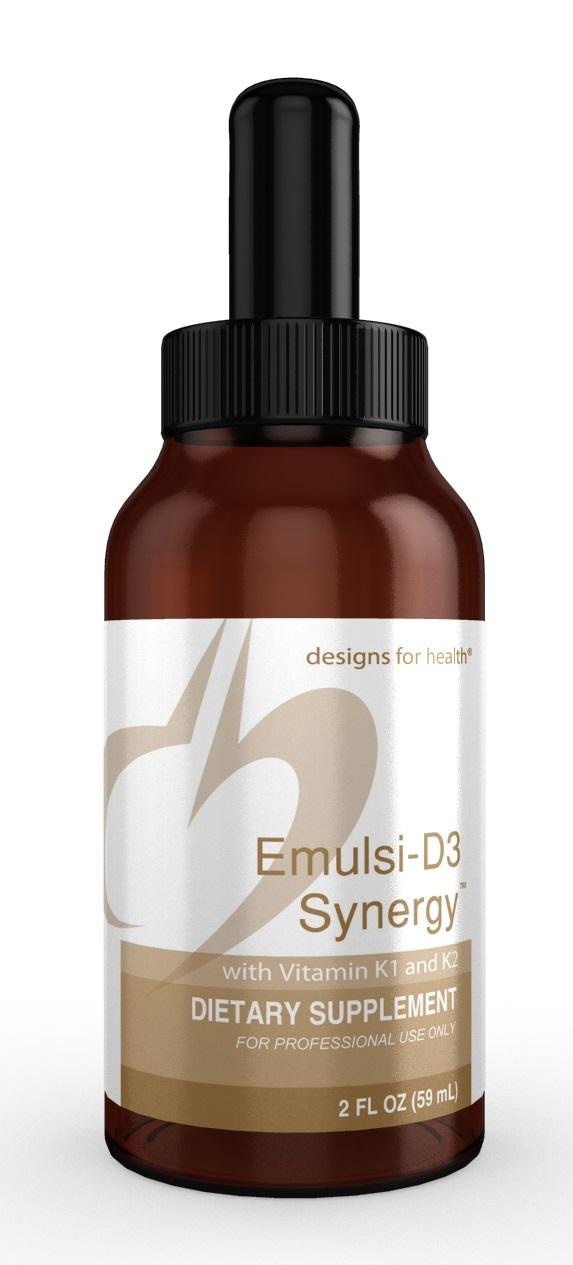 Emulsi D3 Synergy 2oz liquid Designs for Health