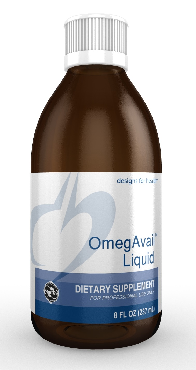 OmegAvail Liquid 8oz Designs for Health