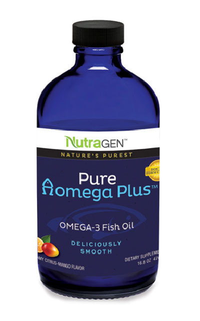 Nutragen pure aomega plus fish oil citrus mango for Does fish oil help with joint pain