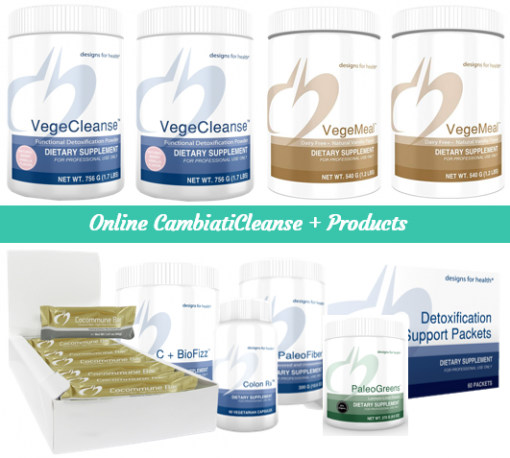Transformation PaleoCleanse, VegeCleanse, PaleoMeal-DF, Paleofiber, PaleoGreens, for CambiatiCleanse