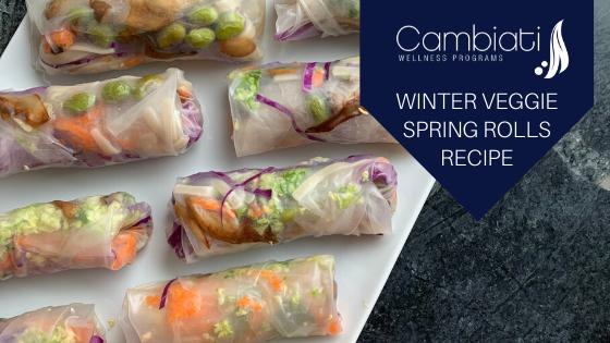 Winter Veggie Spring Rolls Recipe