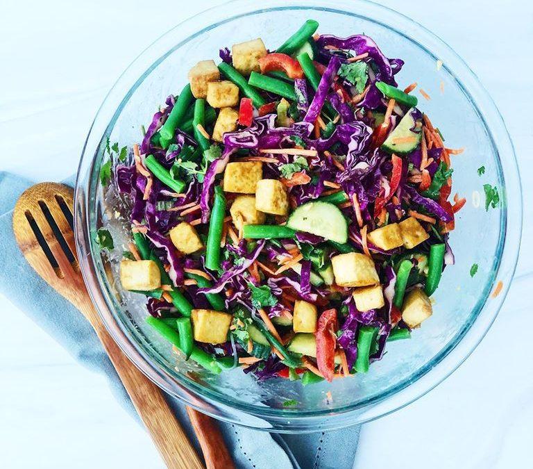 Crispy Cabbage and Tofu Salad
