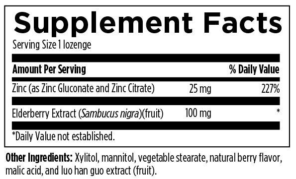 Immuno-Zn Lozenge 90 Designs for Health Ingredients